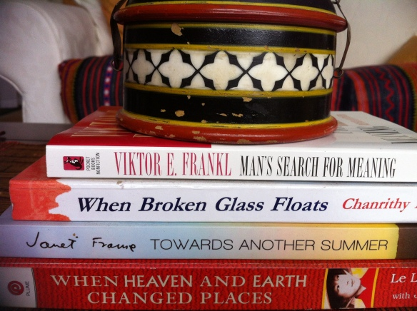 Finding poetry - book spines 1