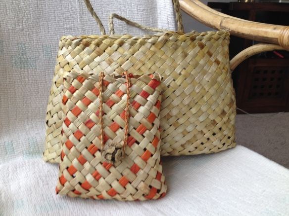 Wendy @ Late Start Studio.  Two small kete.