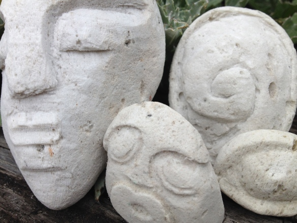 Small carved pumice stones.