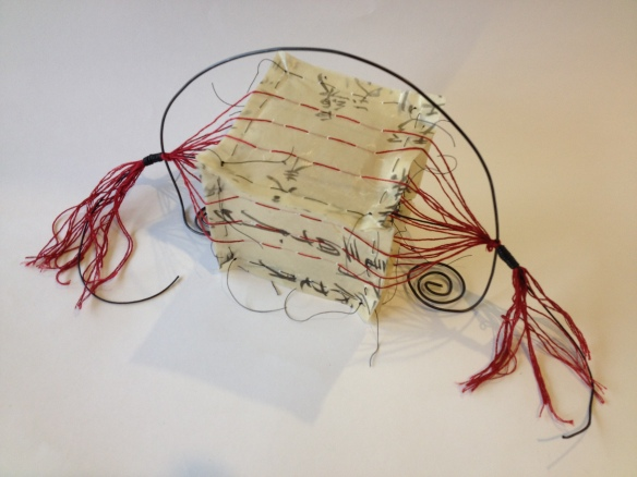 Outisde the box: paper, thread, wax, wire. Wendy @ Late Start Studio